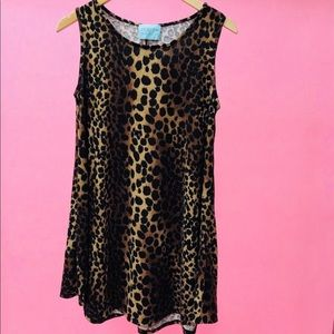 💕Judith March Cheetah Print Mini Dress🌸